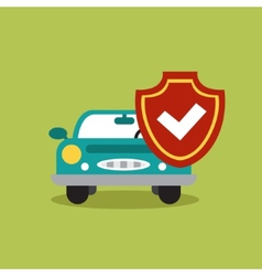 Concept of auto loan in flat design vector
