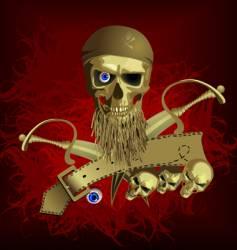 Piracy skull vector