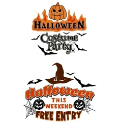 Halloween party theme graphics vector