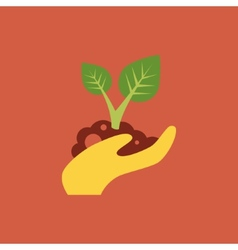 Small tree in a hand vector