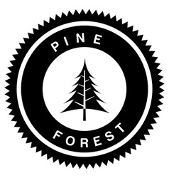 Pine forest design vector