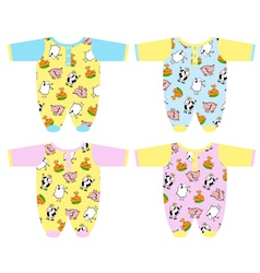 Clothing for baby vector