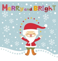 Cute santa christmas card vector