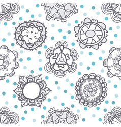 Ethnic seamless pattern with floral ornament vector
