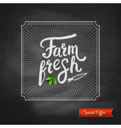 Farm fresh special offer sign vector