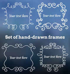Set of hand-drawn frames vector