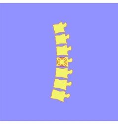Spine icon vector