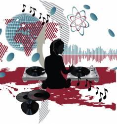 Music poster dj vector