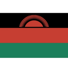 Malawian flag vector