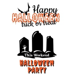 Halloween party poster or invitation vector