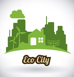 Eco city design eps10 graphic vector