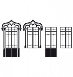 Windows and door windows vector