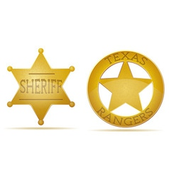 Star sheriff and ranger vector