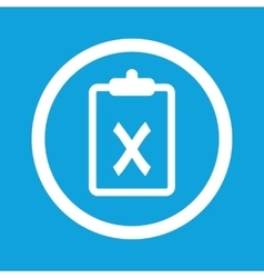 Clipboard no sign icon vector