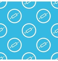 Syringe sign blue pattern vector