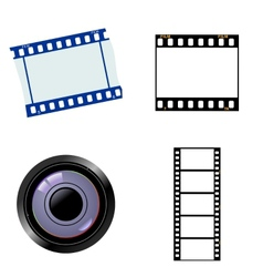Photographic and cinematic objects vector