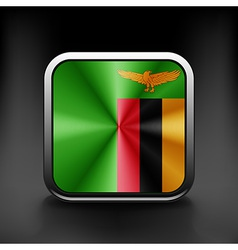Zambia icon flag national travel icon country vector