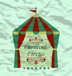 Vintage circus poster for your advertising vector