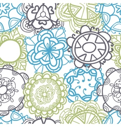 Ethnic seamless pattern stylish floral ornament vector