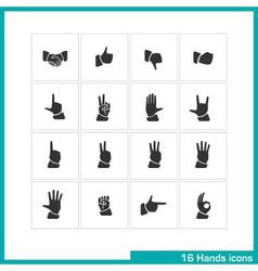 Hands gestures icon set vector