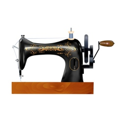 Old sewing machine vector