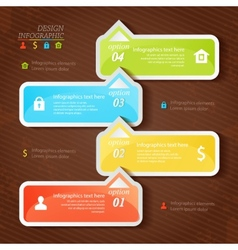 Design infographics four successive options with vector