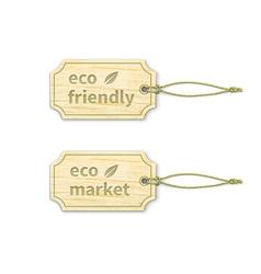 Eco tags set 14 vector