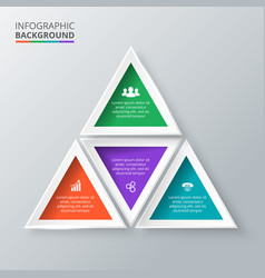 Triangle for infographic vector