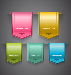 Glossy labels vector