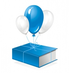 Thick book on balloon vector