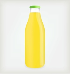 Lemon juice bottle vector