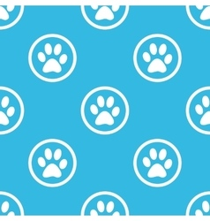 Paw sign blue pattern vector