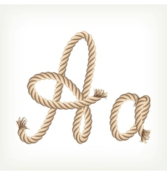 Rope alphabet letter a vector