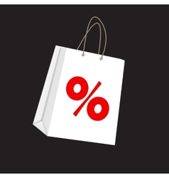 Sale label on shopping bag vector