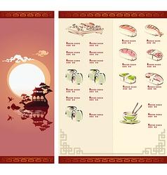 Template design of sushi menu vector