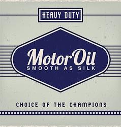 Motor oil label vector