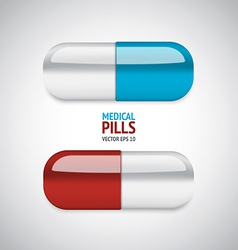 Medical pills vector