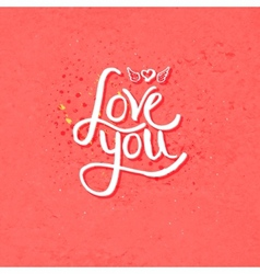 Simple love you concept with winged heart vector