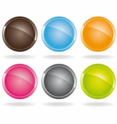 Colored buttons vector