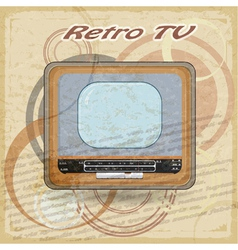 Outdated tv on vintage background vector