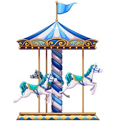 A merry-go-round ride vector