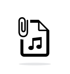 Attached audio file icon on white background vector