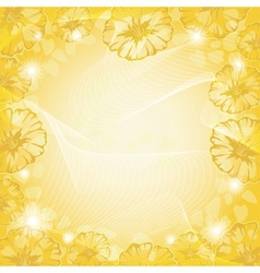 Background with flowers and curves vector