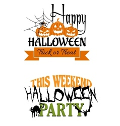 Halloween paty designs vector