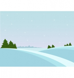 Snow christmas landscape vector