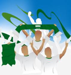 Saudi arabia crowd vector