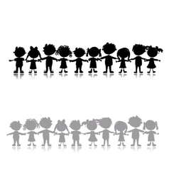 Funny children sketch for your design vector