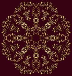East circular ornament vector