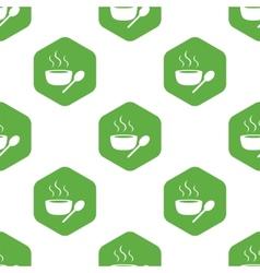 Hot soup pattern vector