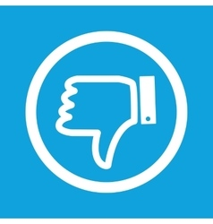 Dislike sign icon vector